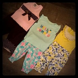 3 outfit baby girl bundle 18mos